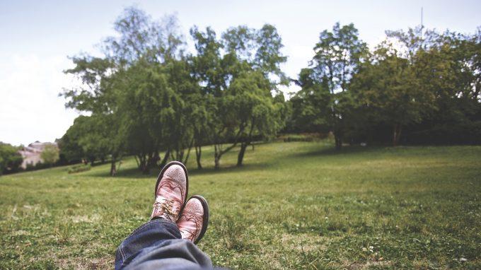 公園でリラックス