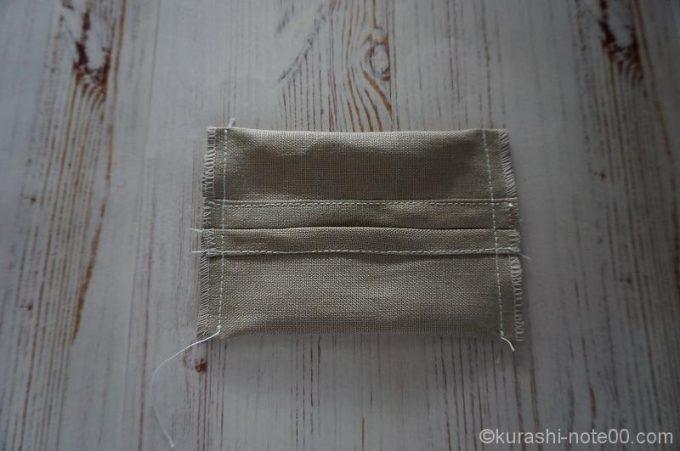両端を縫った布