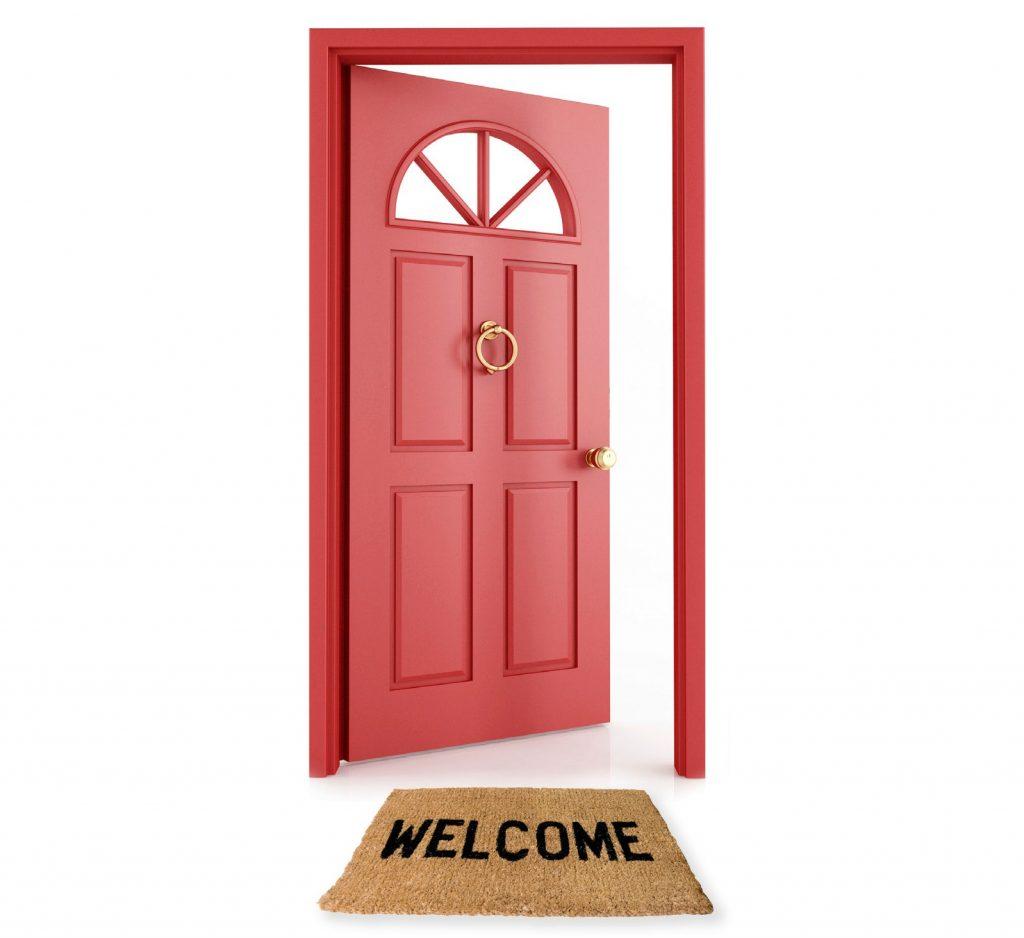 赤いドア幸運の印