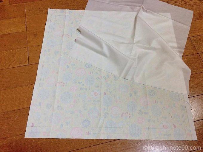 表布と防水透過布