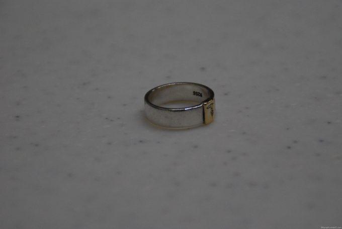 内側の刻印もよみとれるほどきれいになったリング