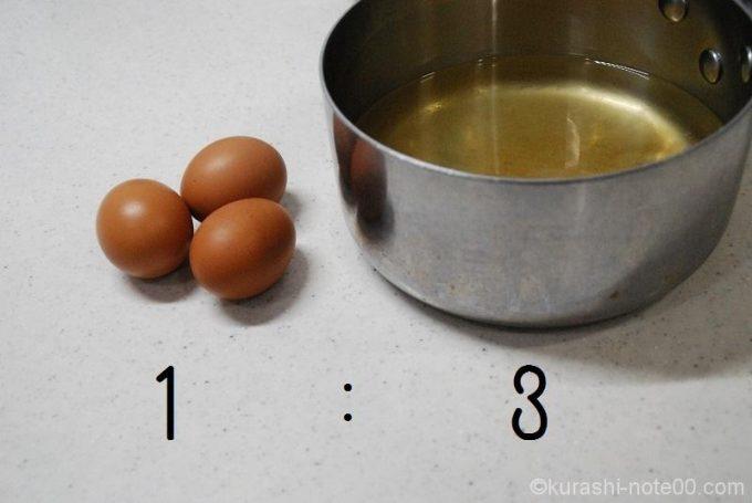 卵と出汁の割合