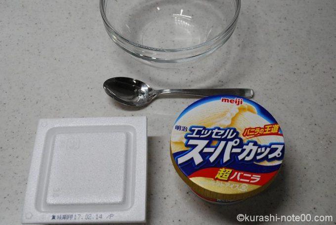 納豆と市販のアイスクリーム