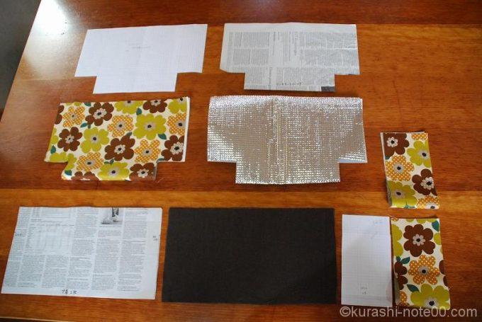 型紙と布をセッティング