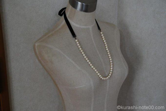 トルソーに装着したネックレス