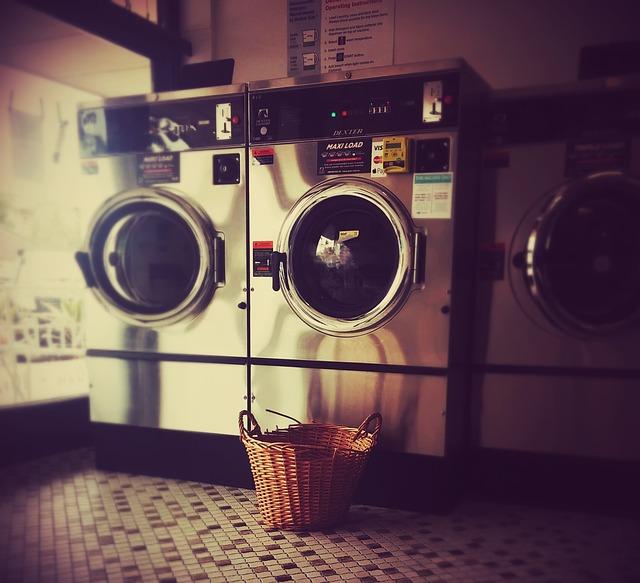 ランドリーで洗濯