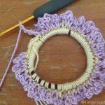 コットン糸でシュシュを編もう。くさり編みで簡単しかもかわいい!