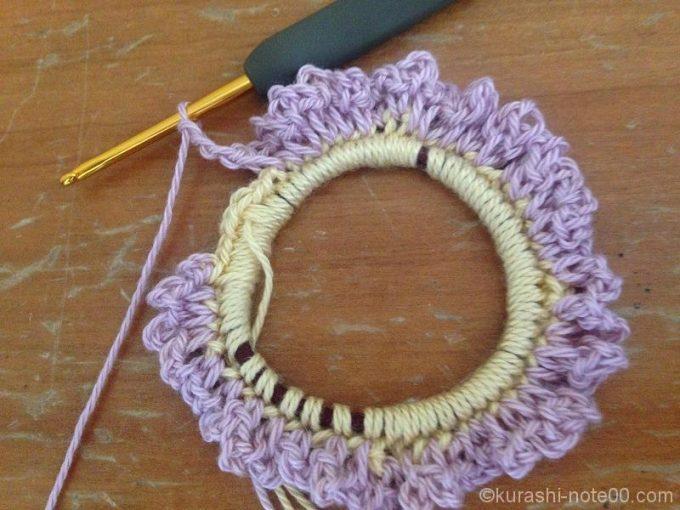 編み進めていったところ