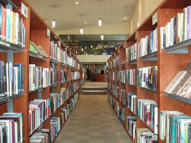 図書館内の音