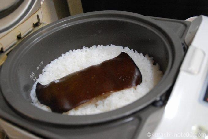 昆布で炊いたご飯
