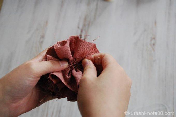 真ん中を縫う