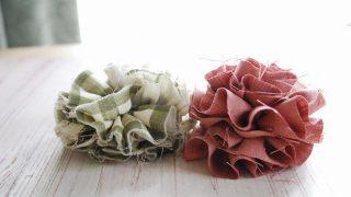 布ブローチは切りっぱなしが可愛い。ザクザク縫ってできる作り方
