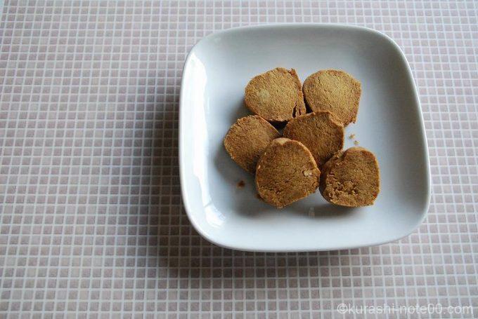 高野豆腐クッキーのできあがり