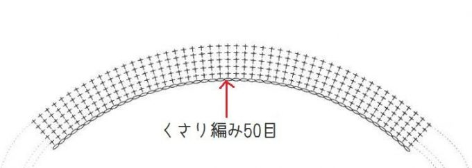 くさり編み50目