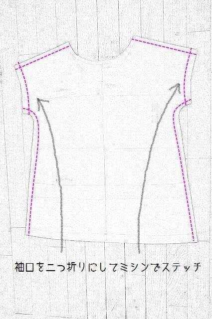 袖口を縫う