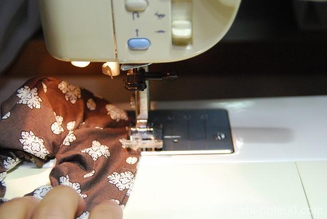 ミシンで直線縫い
