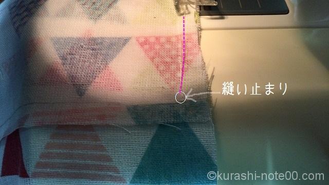 縫い止まり位置