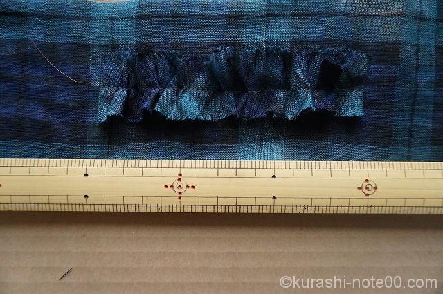 布に縫いつける
