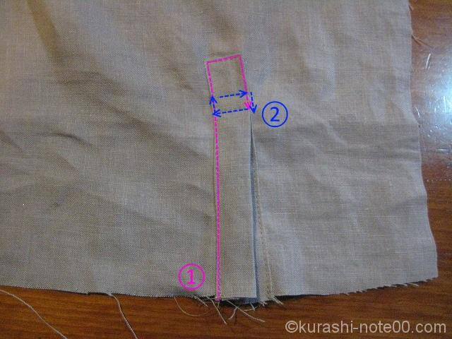 ステッチ縫う順番