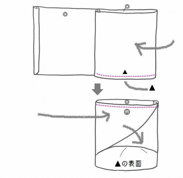 イラストで折り方説明