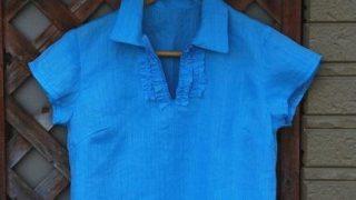 ソーイング大人服|バイアスフリルシャツの作り方