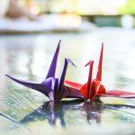 折鶴を折ってオブジェを作ろう!折り方のおさらい