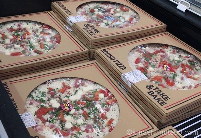 コストコのピザ陳列