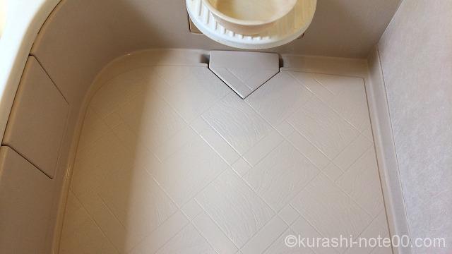 掃除後の浴室の床