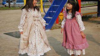 女の子服|フリフリワンピース、気分は大草原の小さなお家のローラ