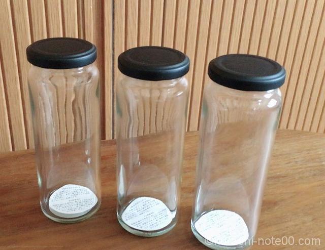 セリアのガラス瓶
