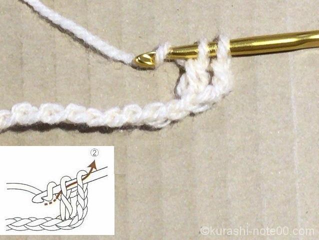 長編みのガイダンス