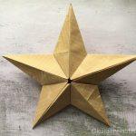 折り紙でつくるバーンスター|立体的なお星さまでオブジェにも