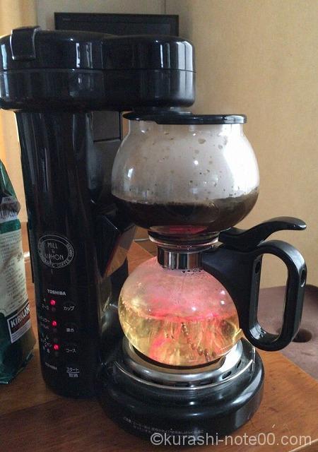 コーヒー煮込み中