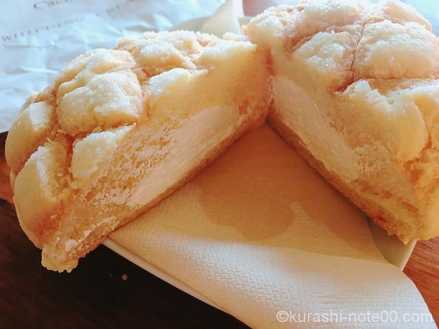 生クリーム入りメロンパン