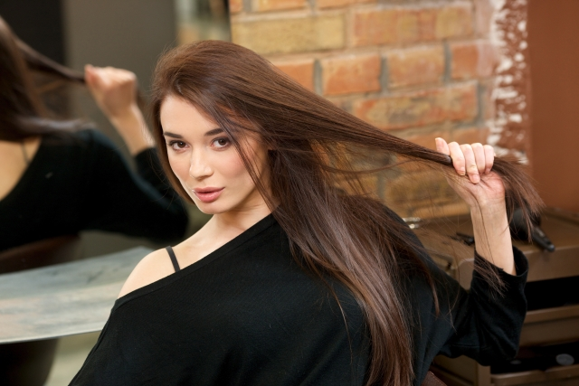 髪の毛の毛先