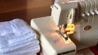 我が家の雑巾はロックミシンでダダダ…。ピンキングはさみも大活躍!