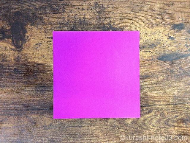 折り紙を置いたところ