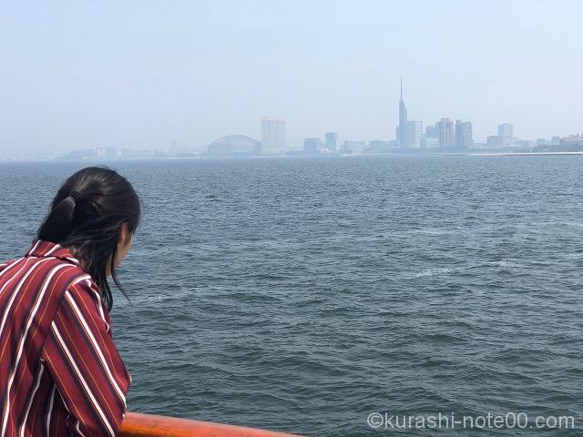 海からの景色