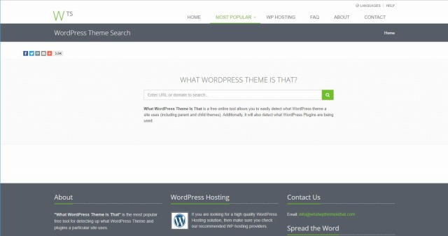 WHAT WORDPRESS THEME IS THAT?の画面