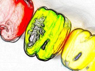 B3:カラー線画 ボールペン