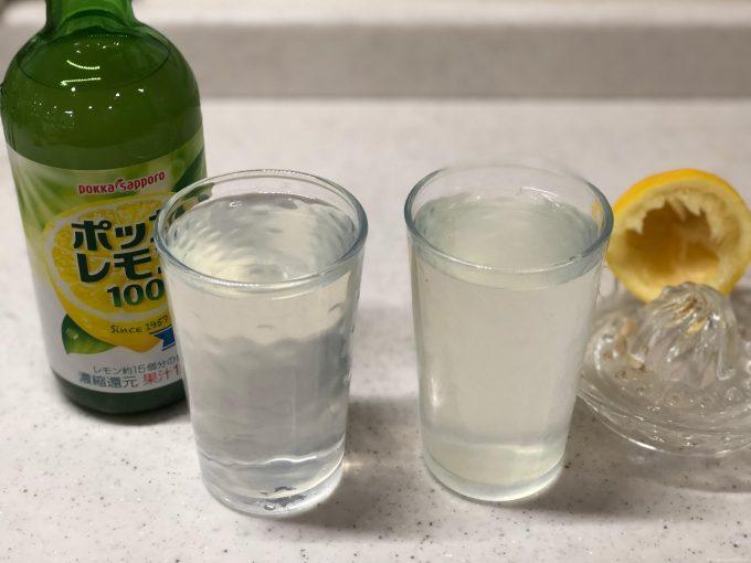 生搾りレモンVSポッカレモン