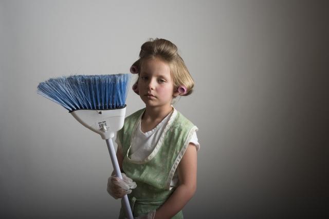 子どもの掃除
