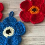 マリメッコ風お花のアクリルたわし|花弁1枚ずつの編み方と減らし目