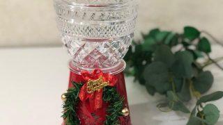 ダイソーで作るクリスマスキャンディポット