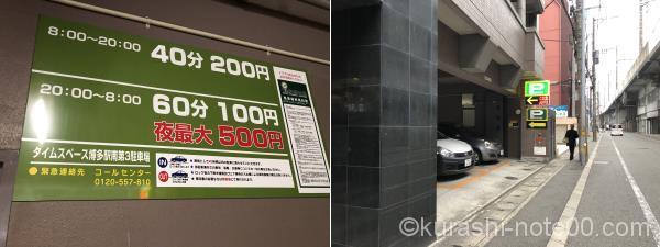 タイムスペース博多駅南第3駐車場