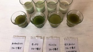【人気のフルーツ青汁の味を比較】めっちゃ・すっきり・ゴクリッチ・フレッシュ