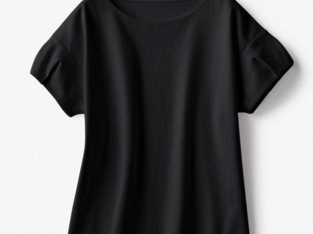 ドゥクラッセTシャツ・タックスリーブブラック