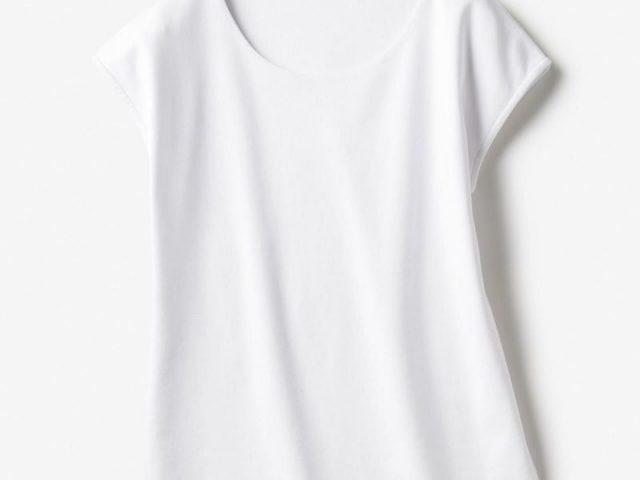 ドゥクラッセTシャツ・深ジュエルネックフレンチ袖