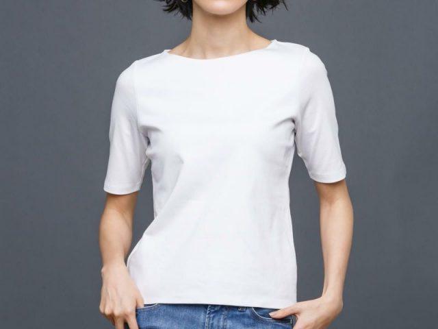 ドゥクラッセTシャツ・ボートネック5分袖