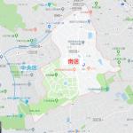 福岡市「平和」は中央区と南区にまたがっています